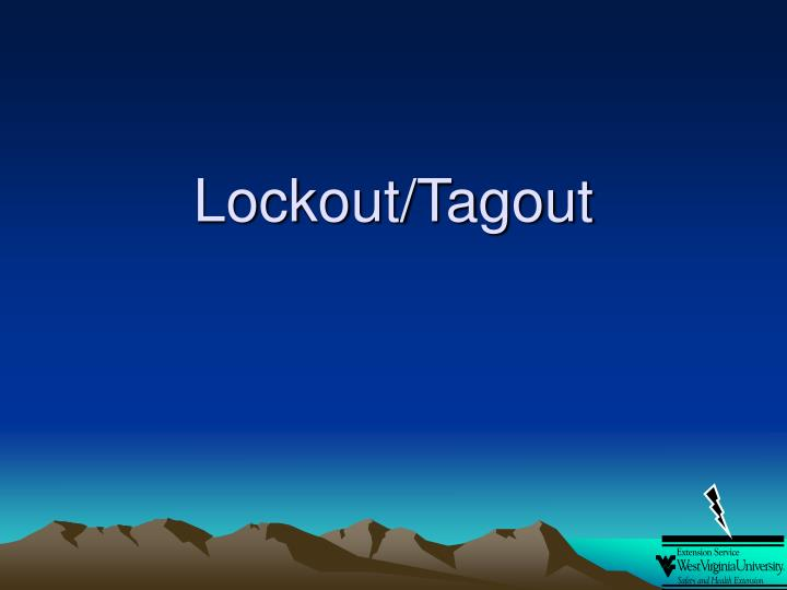 lockout tagout n.