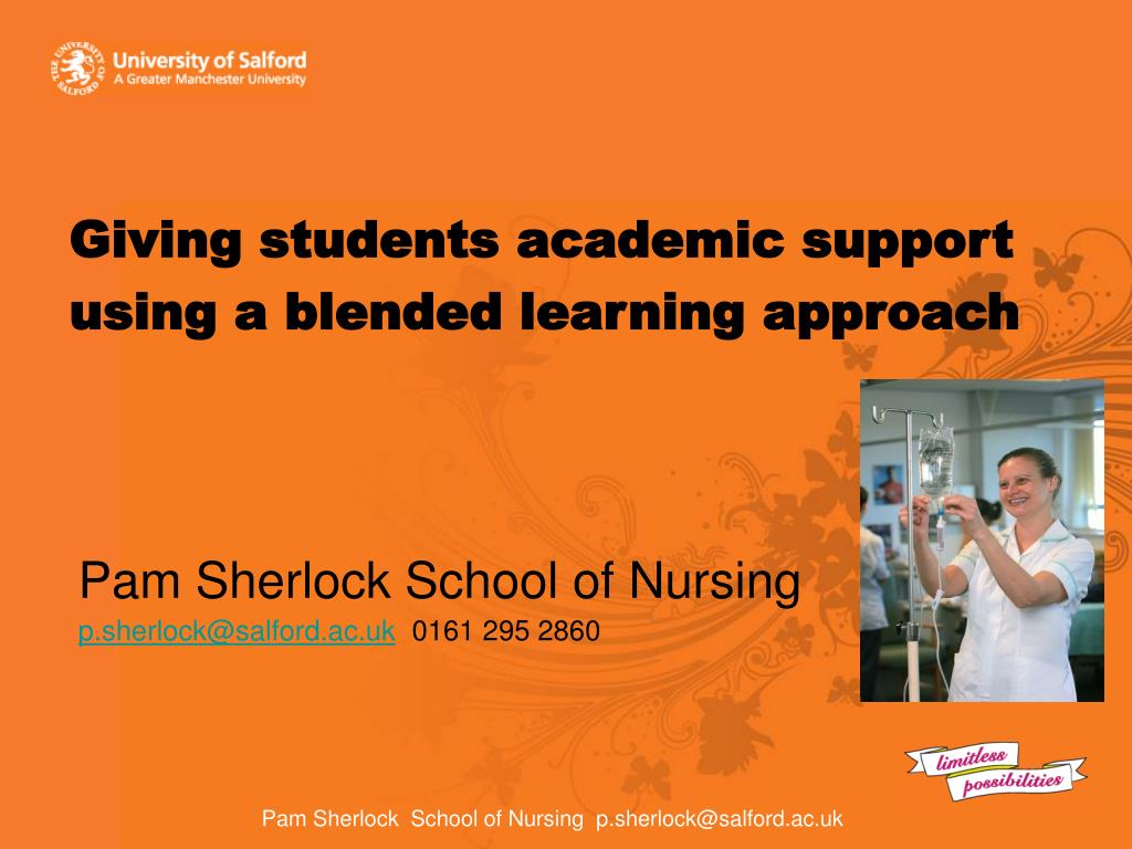 giving students academic support using a blended learning approach l.