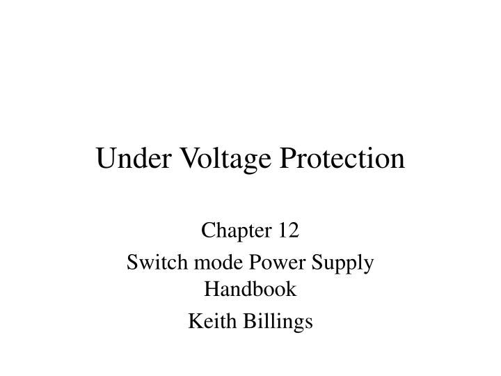 under voltage protection n.