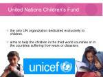 united nations children s fund