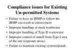 compliance issues for existing un permitted systems17