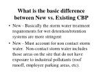 what is the basic difference between new vs existing cbp