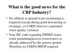what is the good news for the cbp industry32