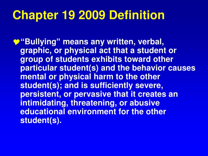 Chapter 19 2009 Definition