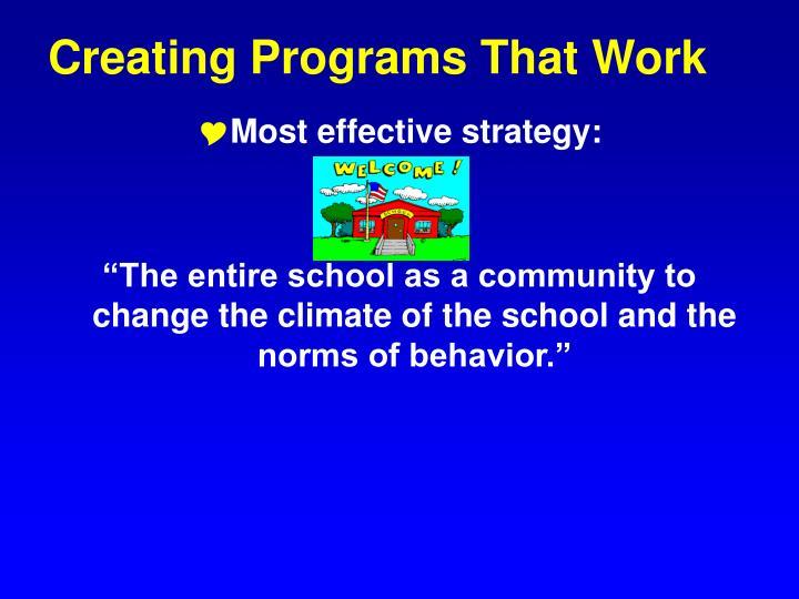 Creating Programs That Work