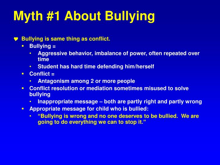 Myth #1 About Bullying