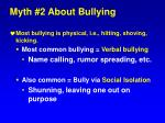 myth 2 about bullying