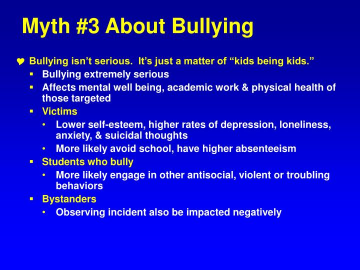 Myth #3 About Bullying