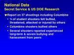 national data secret service us doe research