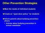 other prevention strategies1