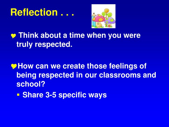 Reflection . . .