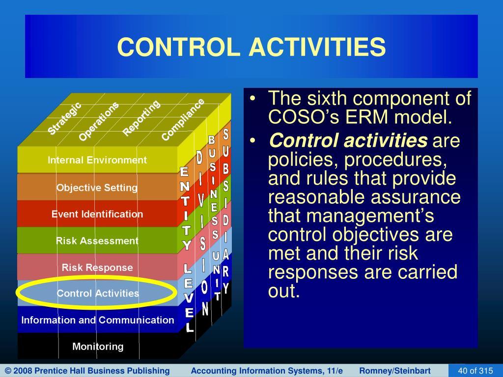 CONTROL ACTIVITIES