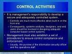 control activities41