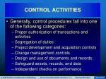 control activities42