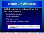 control frameworks16