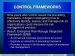 control frameworks17