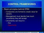 control frameworks18