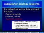 overview of control concepts5
