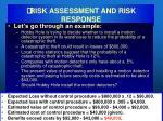 risk assessment and risk response38