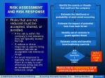 risk assessment and risk response39
