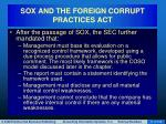 sox and the foreign corrupt practices act11