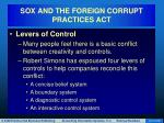 sox and the foreign corrupt practices act12