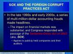 sox and the foreign corrupt practices act8
