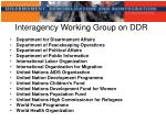 interagency working group on ddr