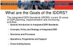 what are the goals of the iddrs