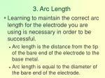 3 arc length