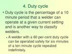 4 duty cycle