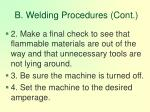 b welding procedures cont