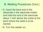b welding procedures cont90
