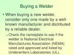 buying a welder