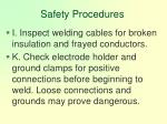 safety procedures118
