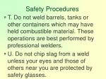 safety procedures126