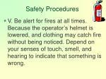 safety procedures127