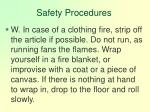 safety procedures128