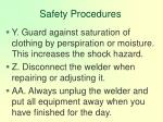 safety procedures130