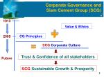 corporate governance and siam cement group scg