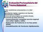 evaluaci n pre hospitalaria del trauma abdominal