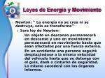 leyes de energia y movimiento