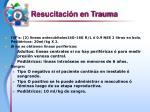 resucitaci n en trauma