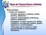 tipos de trauma romo o directo10