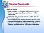 trauma penetrante