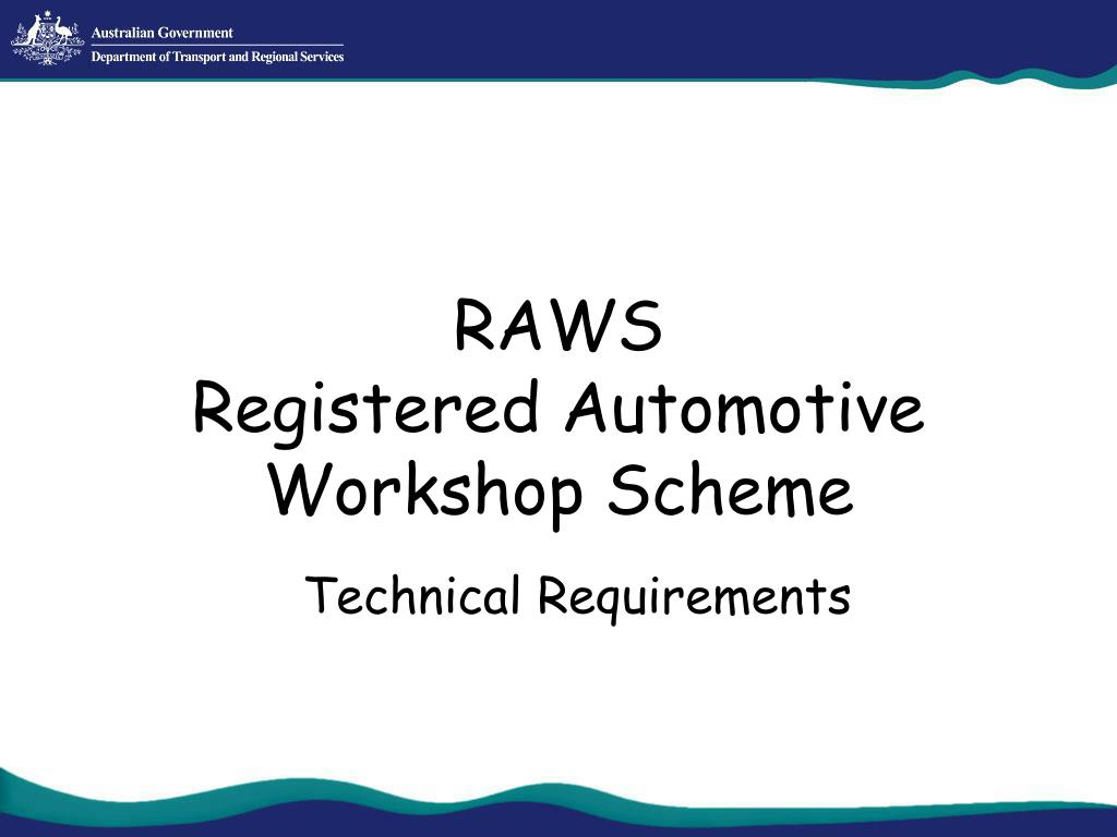raws registered automotive workshop scheme l.