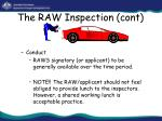 the raw inspection cont29