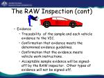 the raw inspection cont31