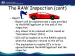 the raw inspection cont32