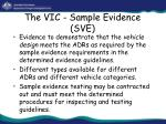 the vic sample evidence sve